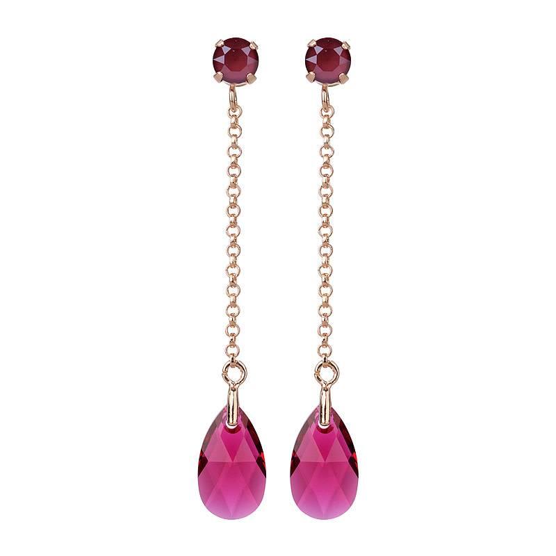 61514a8882e Camps & Camps - Oorbellen - Sparkle Drops Fuchsia - Bizou Luxuries
