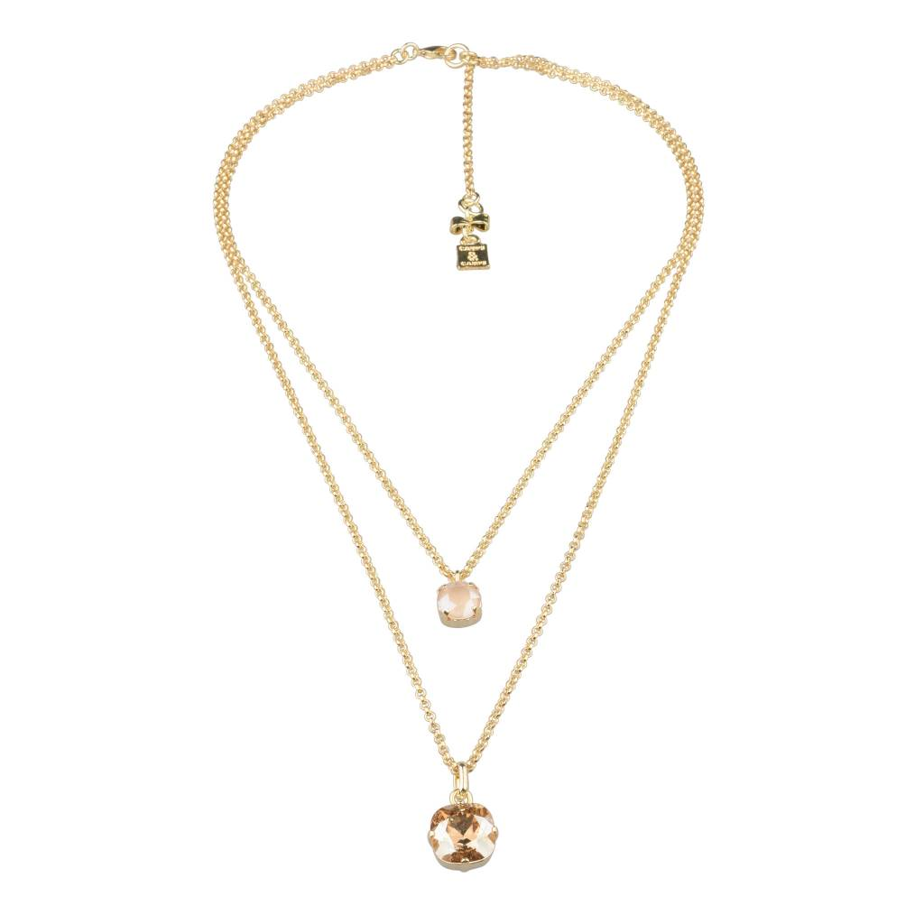 Camps&Camps Camps & Camps - Ketting - Double Sparkle Champagne