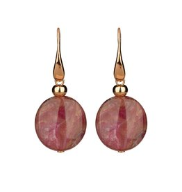 a6b02872573 Camps&Camps Oorbellen - Circle Vintage Rose · Rosé goudvergulde oorbellen  van Camps ...