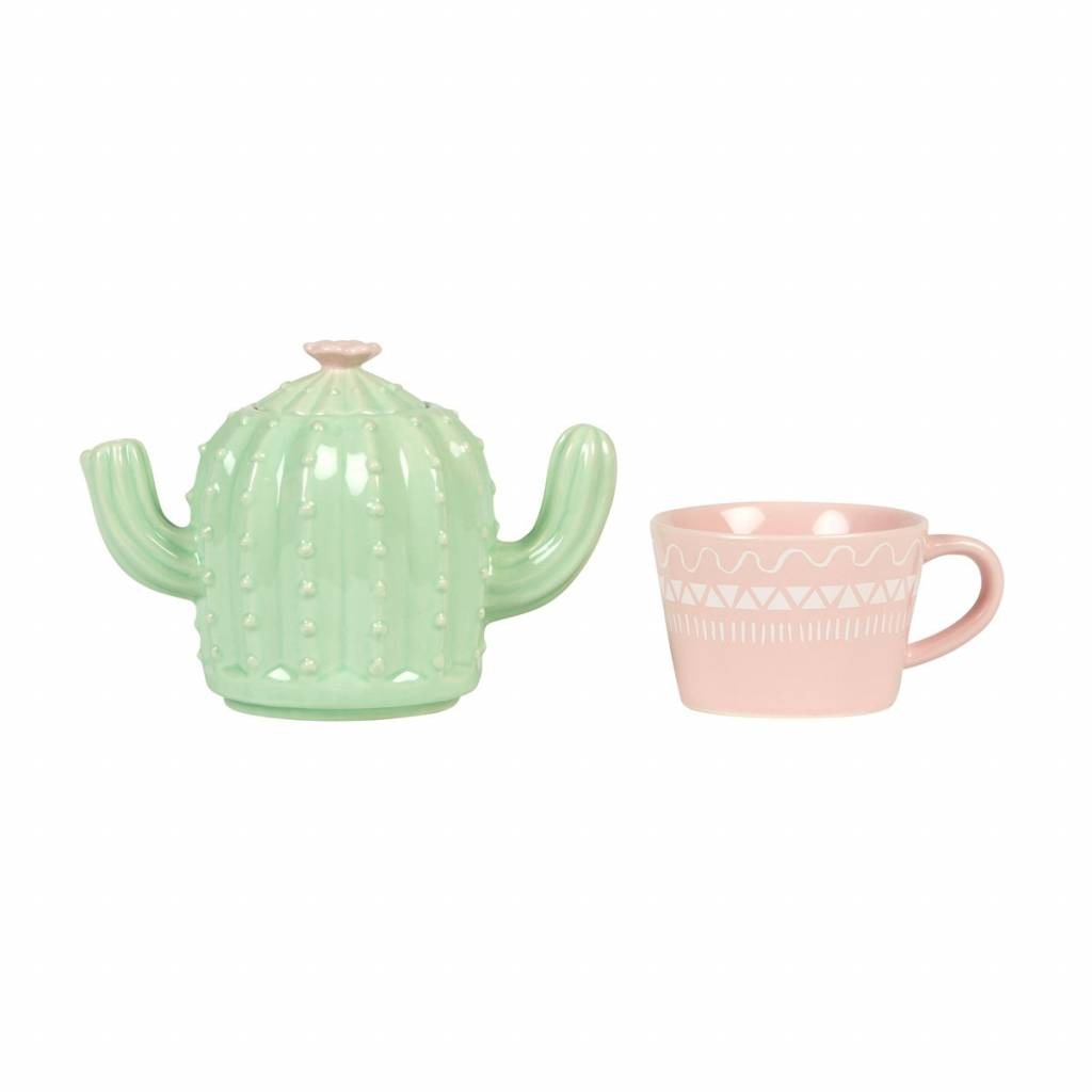 Sass&Belle Pastel Cactus - Tea for One