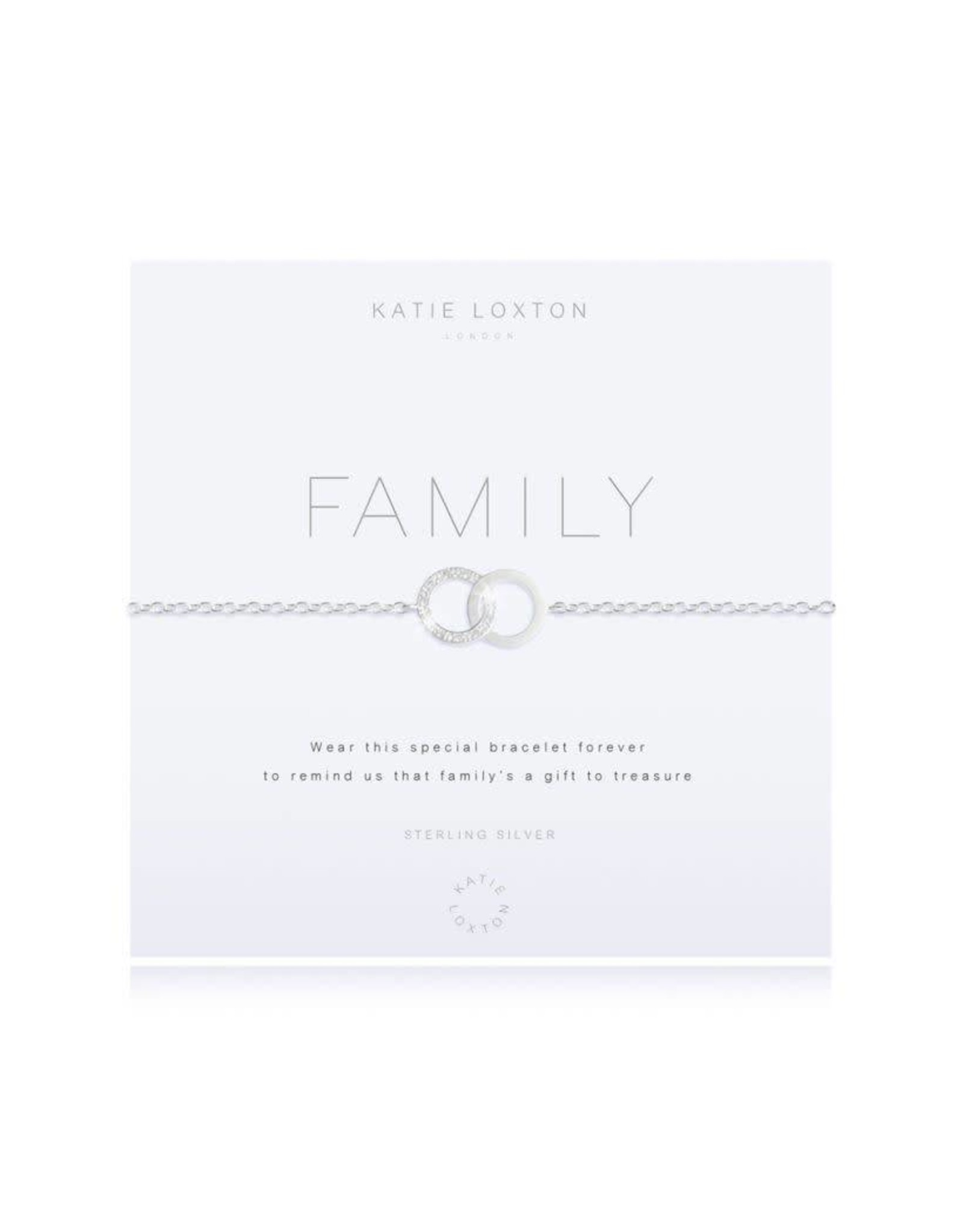 Katie Loxton Armband - 925 zilver - Infinity - Family