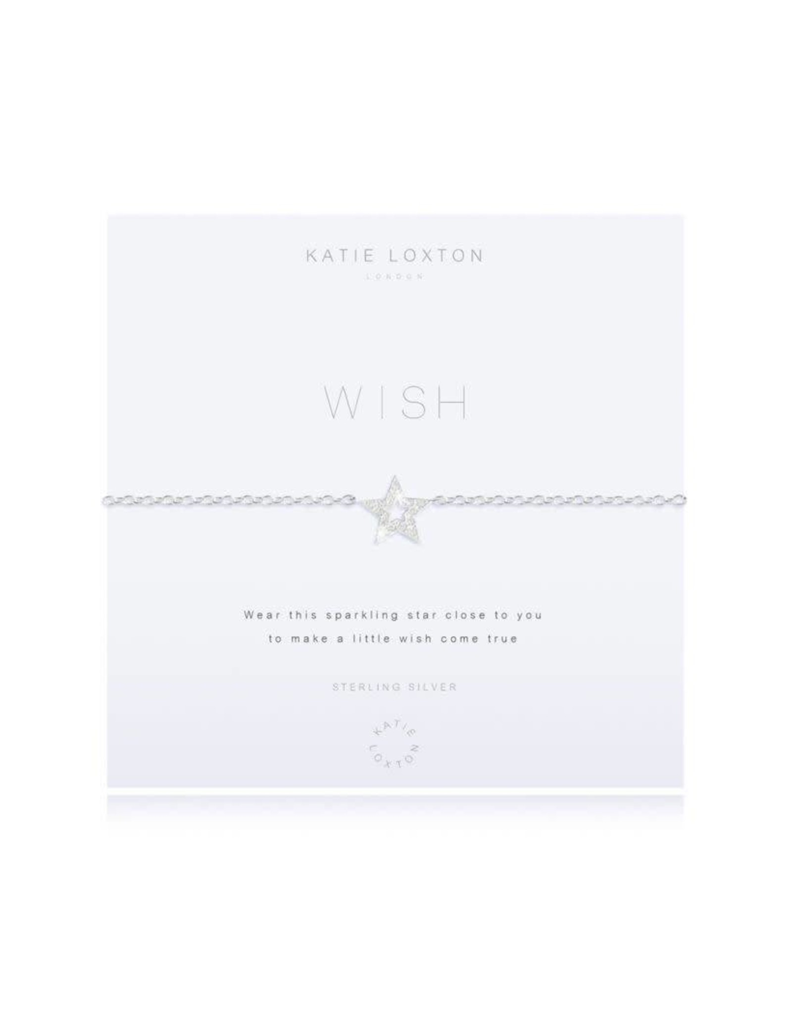 Katie Loxton Armband - 925 zilver - Ster - Wish
