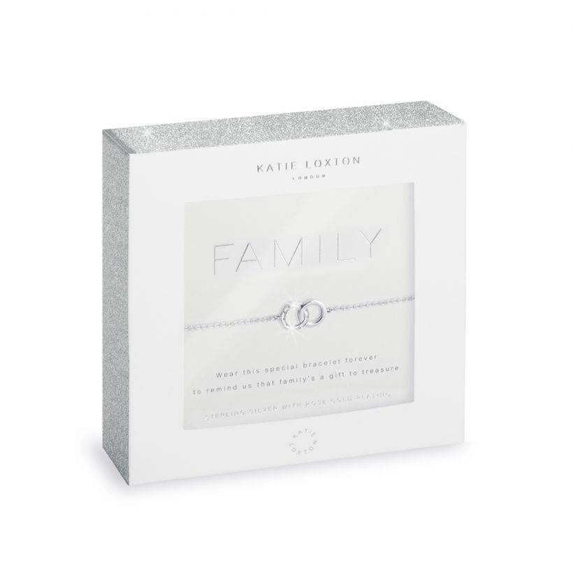 Katie Loxton Armband - Sterling Silver - Family