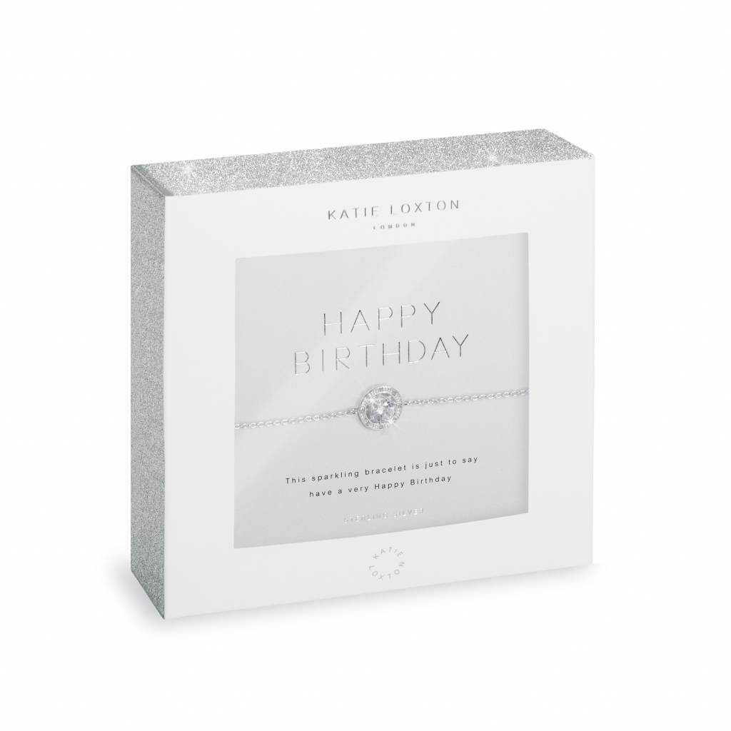 Katie Loxton Armband - 925 zilver - Happy Birthday