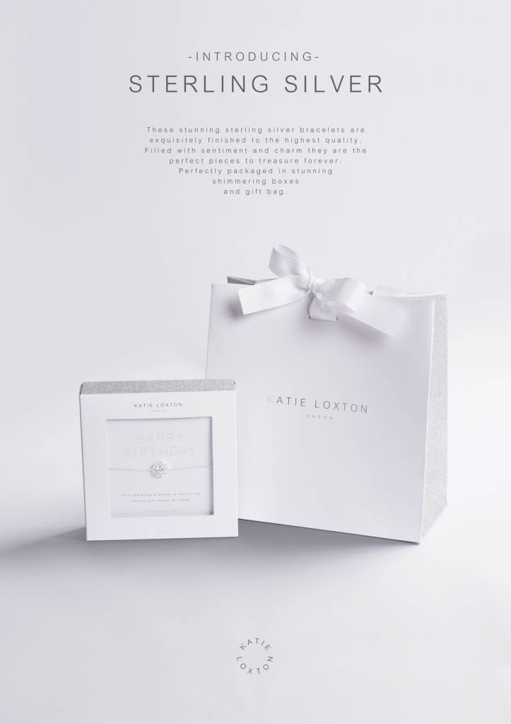 Katie Loxton Armband - 925 zilver - Happiness