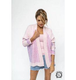 Gout d'Anvers Cardigan - Color Block Pink/Lilac
