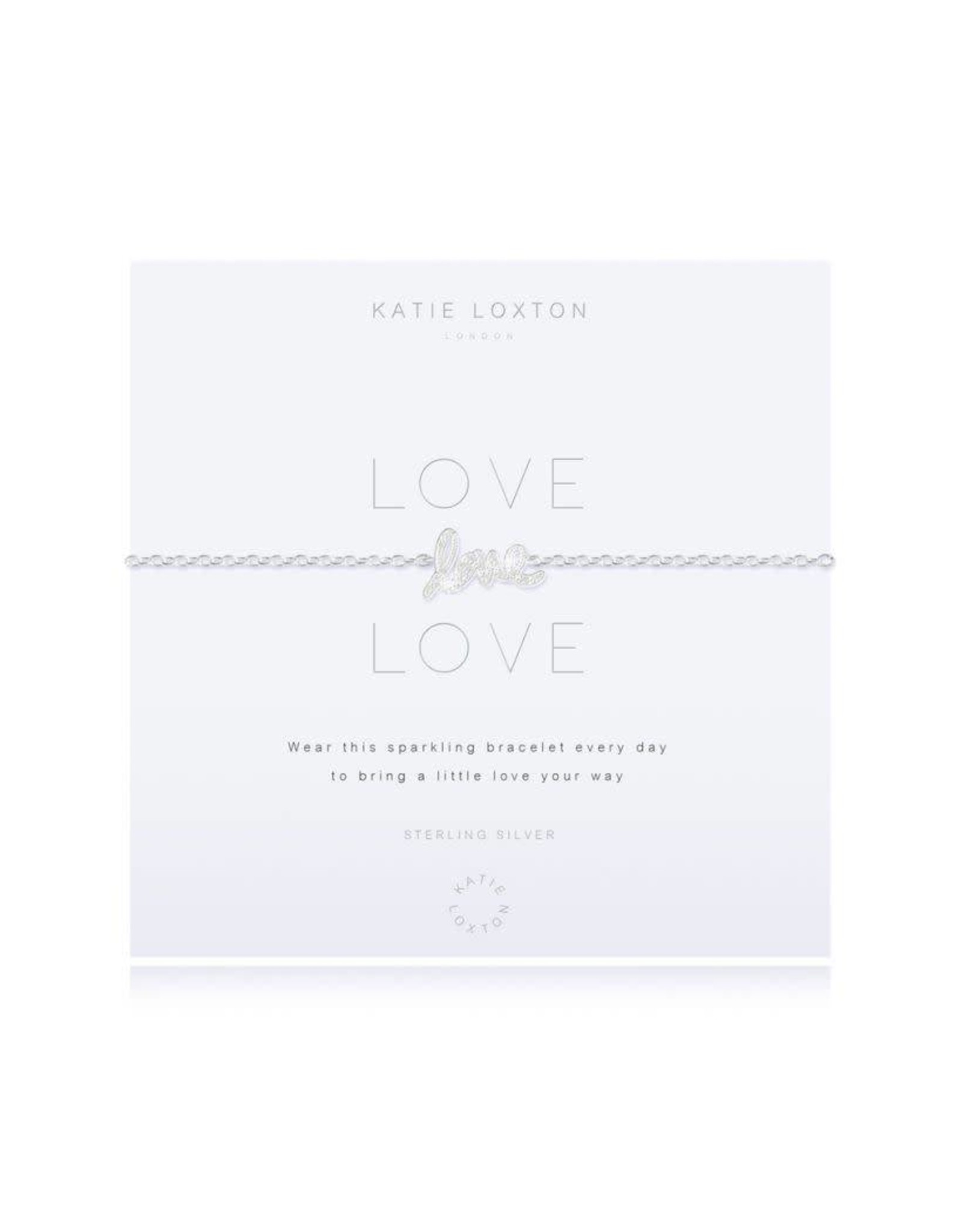 Katie Loxton Armband - 925 zilver - Love