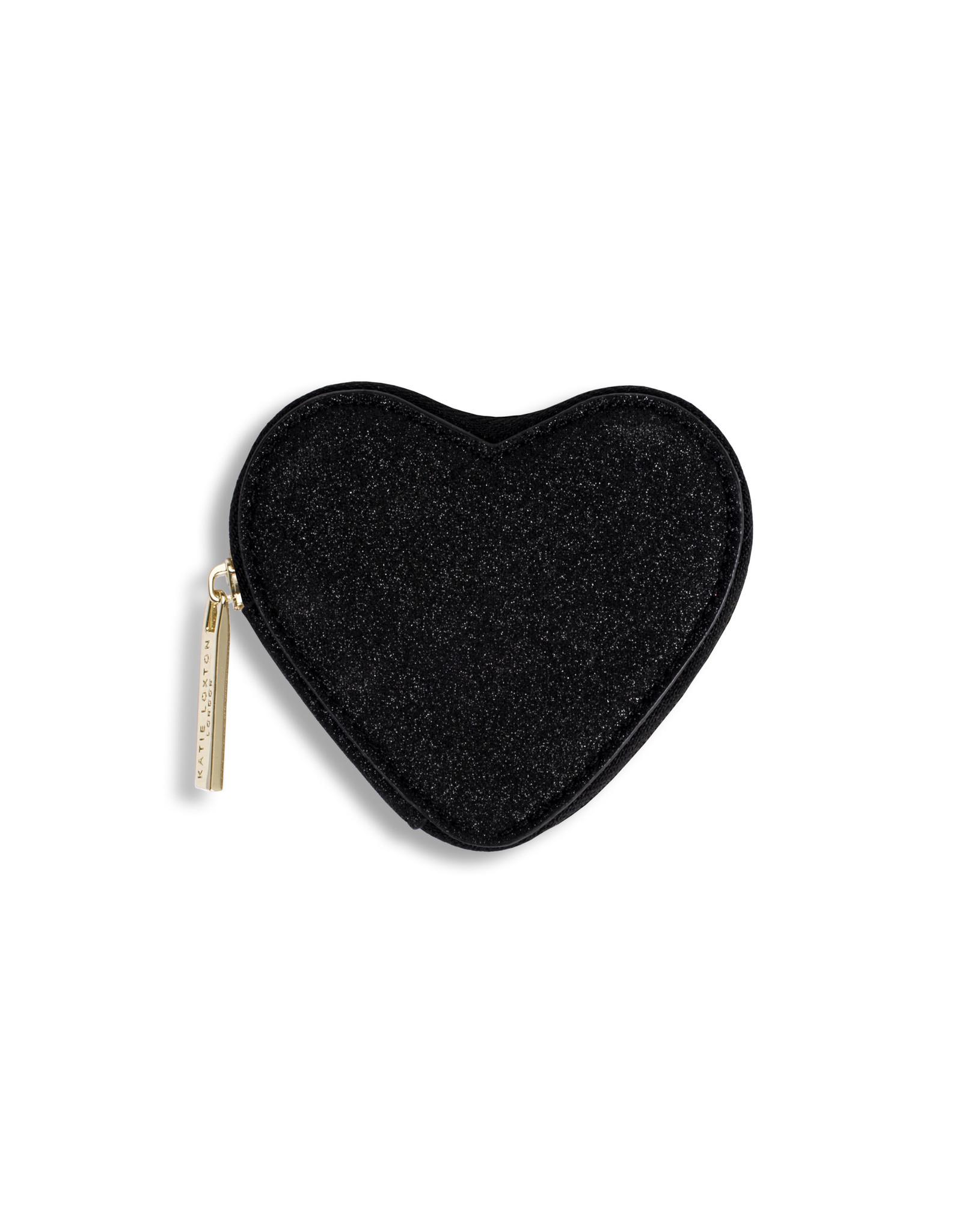 Katie Loxton Geldbeugel - Heart Black Shimmer