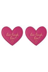 Katie Loxton Onderleggers - Heart - Live Laugh Love