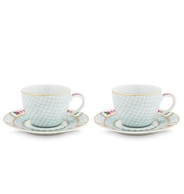 Pip Studio Blushing Birds - Espresso White - Set van 2