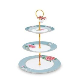 Pip Studio Blushing Birds - Cakestand Blue