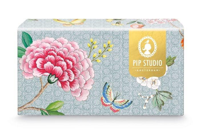 Pip Studio Blushing Birds - Tassen Set/2 Blue Groot