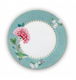 Pip Studio Blushing Birds - Bord Blue 21cm - Set van 2