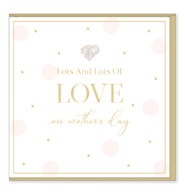 Hearts Design Wenskaart - Lots of Love on Mother's Day