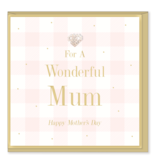 Hearts Design Wenskaart - Wonderful Mum - Mothers Day