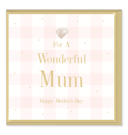 Hearts Design Wenskaart - Wonderful Mum - Mothers Day