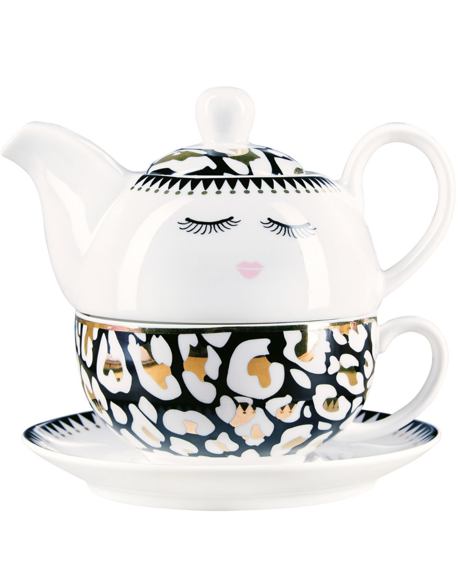 Miss Etoile Tea For One - Leopard