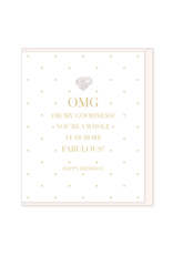 Hearts Design Wenskaart - Oh my Goodness - More Fabulous