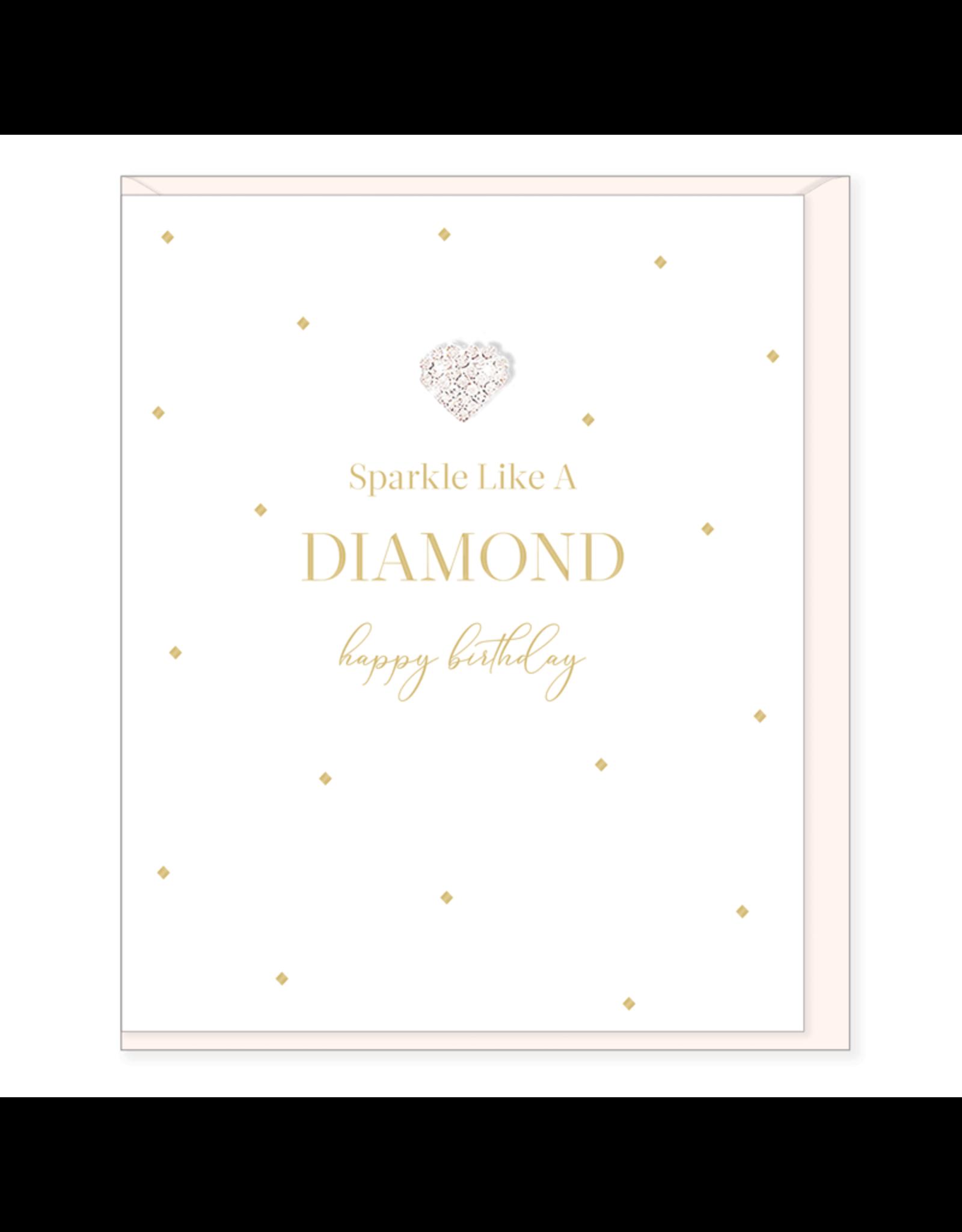 Hearts Design Wenskaart - Sparkle Like a Diamond