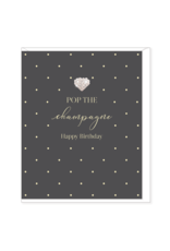 Hearts Design Wenskaart - Pop the Champagne