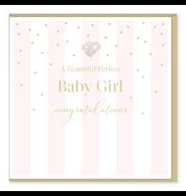 Hearts Design Wenskaart - Perfect Baby Girl
