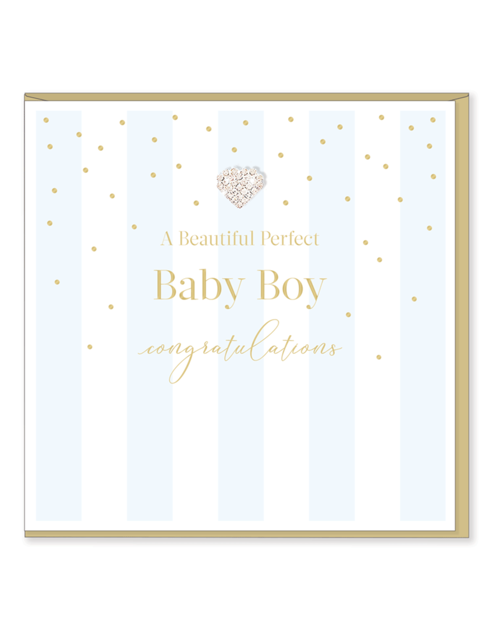 Hearts Design Wenskaart - Perfect Baby Boy