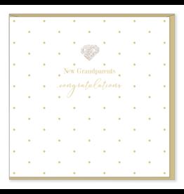 Hearts Design Wenskaart - New Grandparents