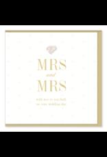 Hearts Design Wenskaart - MRS & MRS
