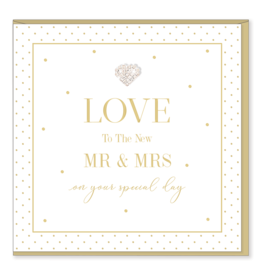 Hearts Design Wenskaart - Love to the new Mr & Mrs