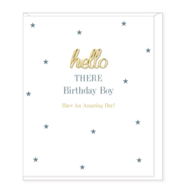 Hearts Design Birthday Boy