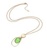 Bizou Ketting - Gold Stone Green