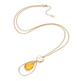 Bizou Ketting - Gold Stone Yellow