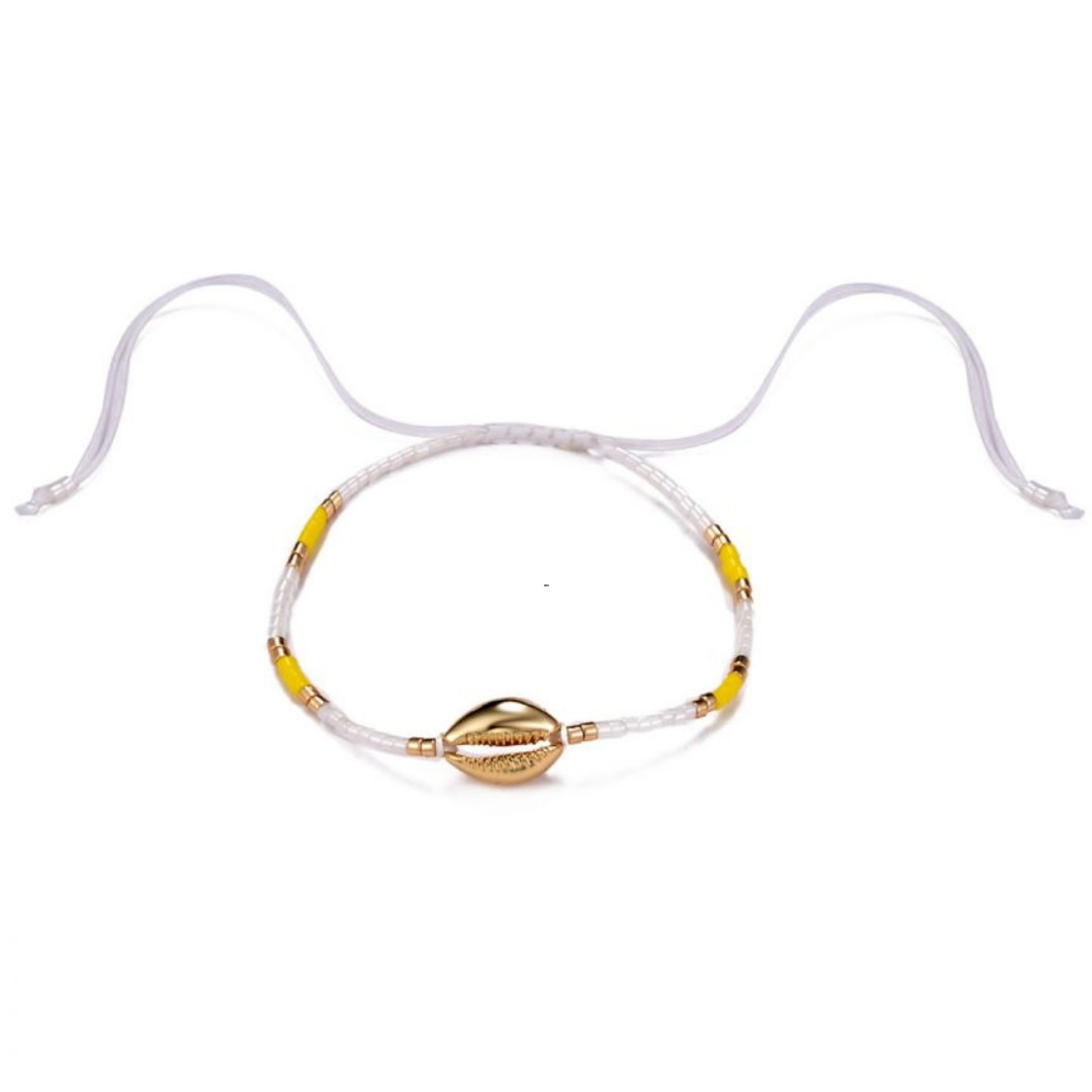 Bizou Armband - Shell Gold Yellow