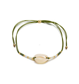 Bizou Armband - Shell Green