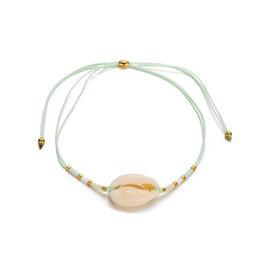Bizou Armband - Shell Mint