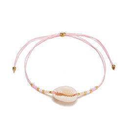Bizou Armband - Shell Rose