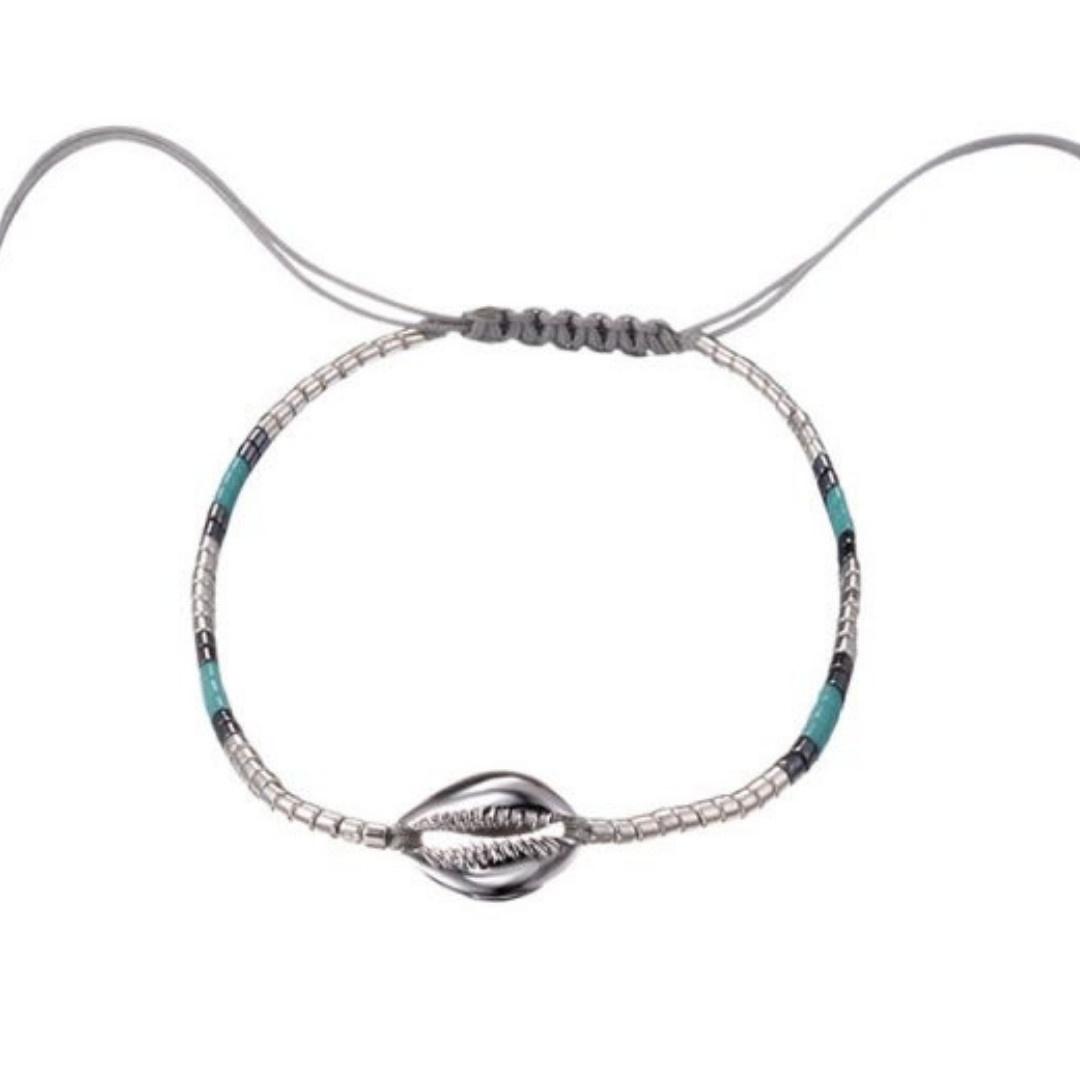 Bizou Armband - Shell Silver