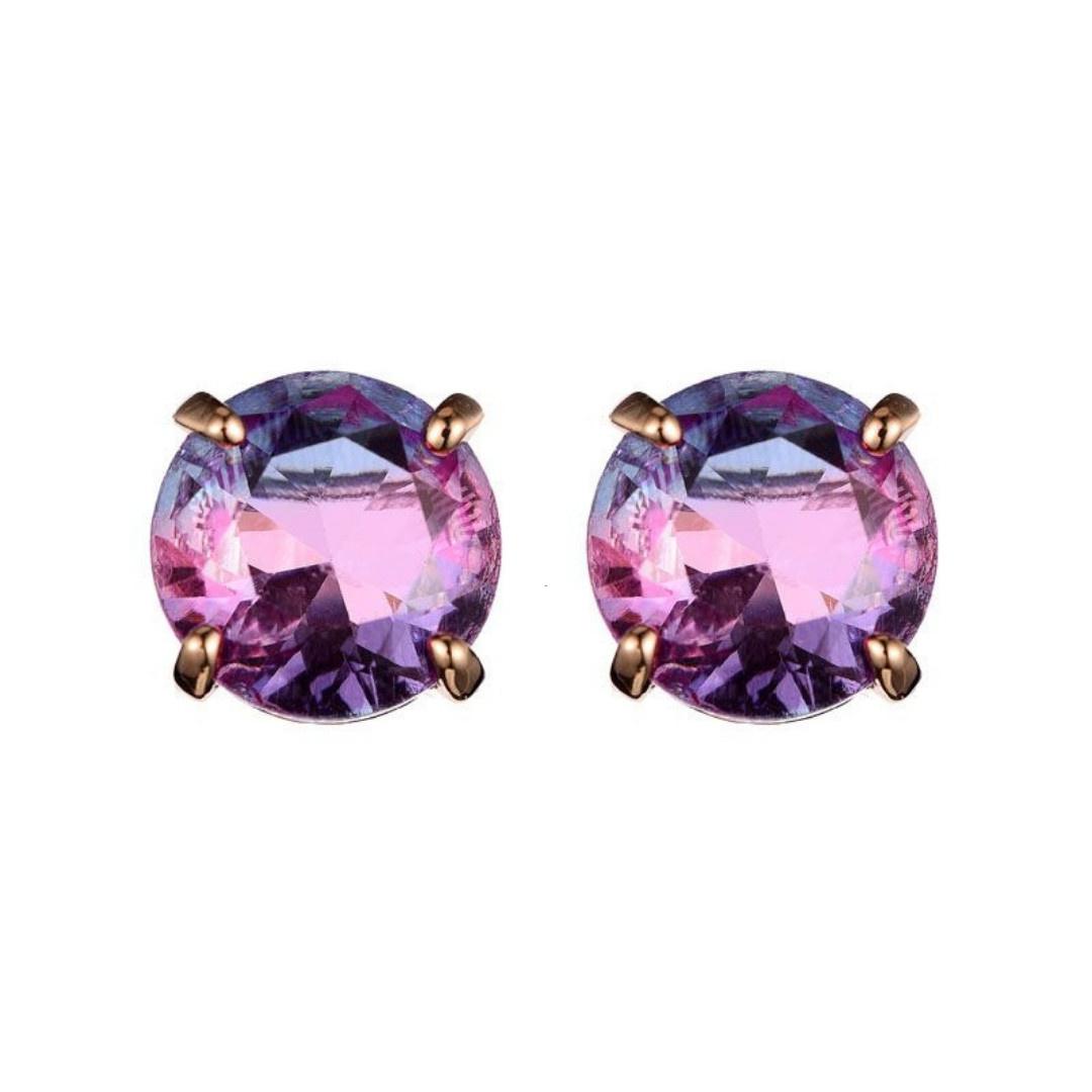 Bizou Oorbellen - Bubble Purple