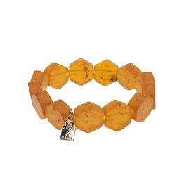 Camps&Camps Armband - Oranjebruin Mat