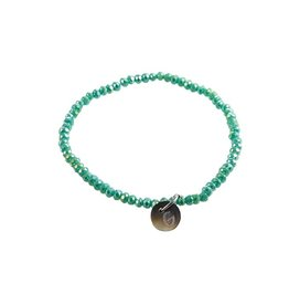 Go Dutch Label Armband - Beads Fijn - Sea Green