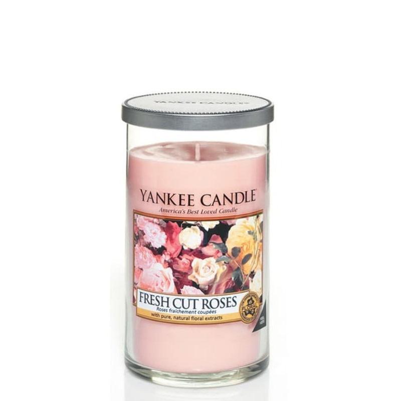 Yankee Candle Fresh Cut Roses Medium Pillar