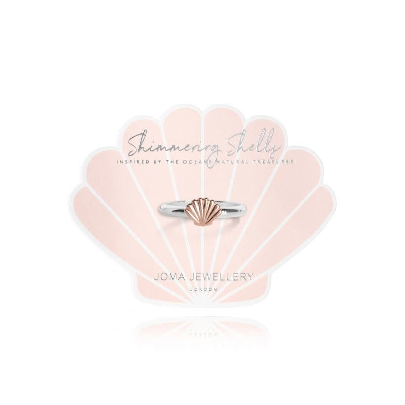 Joma Jewellery Shimmering Shell - Ring Zilver/Rose