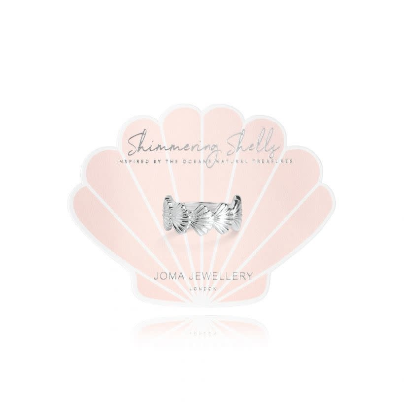 Joma Jewellery Shimmering Shell - Ring Zilver