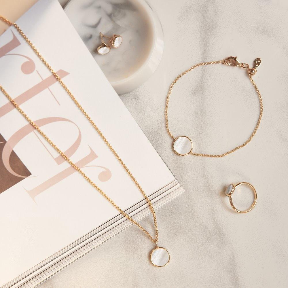 Joma Jewellery Shona Shell - Disc Oorbellen