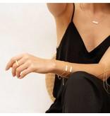 Joma Jewellery Shona Shell - Bar Oorbellen