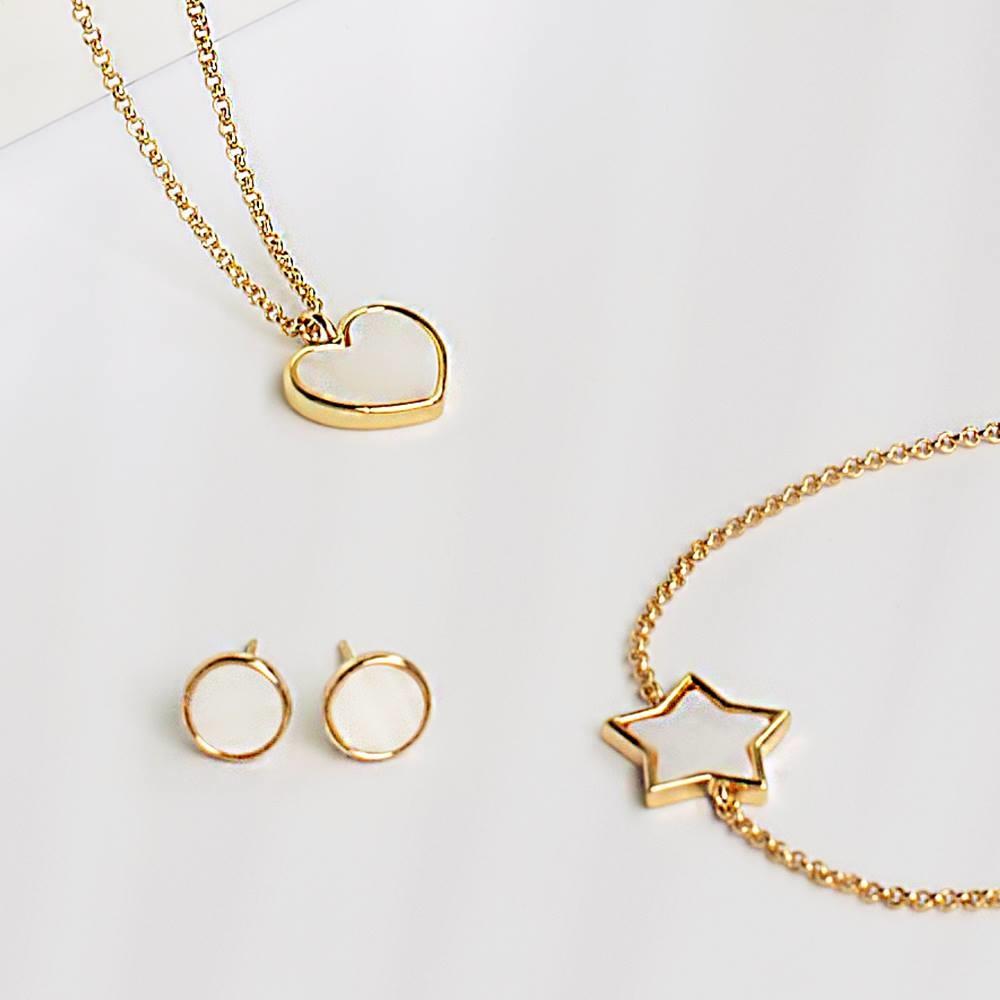 Joma Jewellery Shona Shell - Star Oorbellen