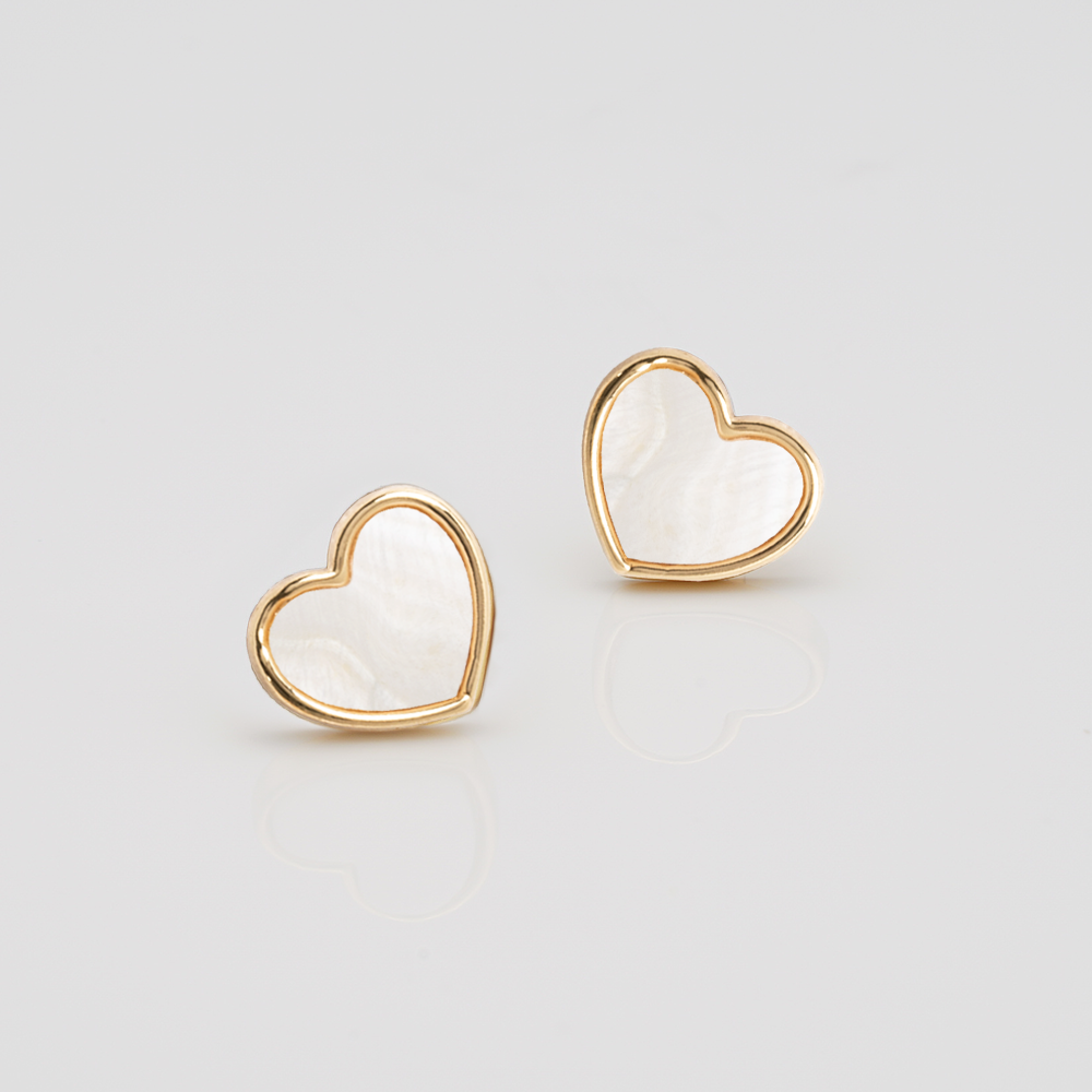 Joma Jewellery Shona Shell - Heart Oorbellen