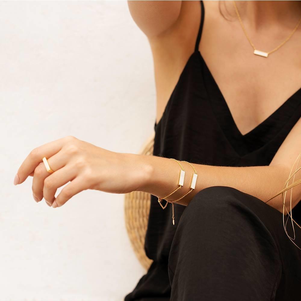 Joma Jewellery Shona Shell - Bar Ketting Goud