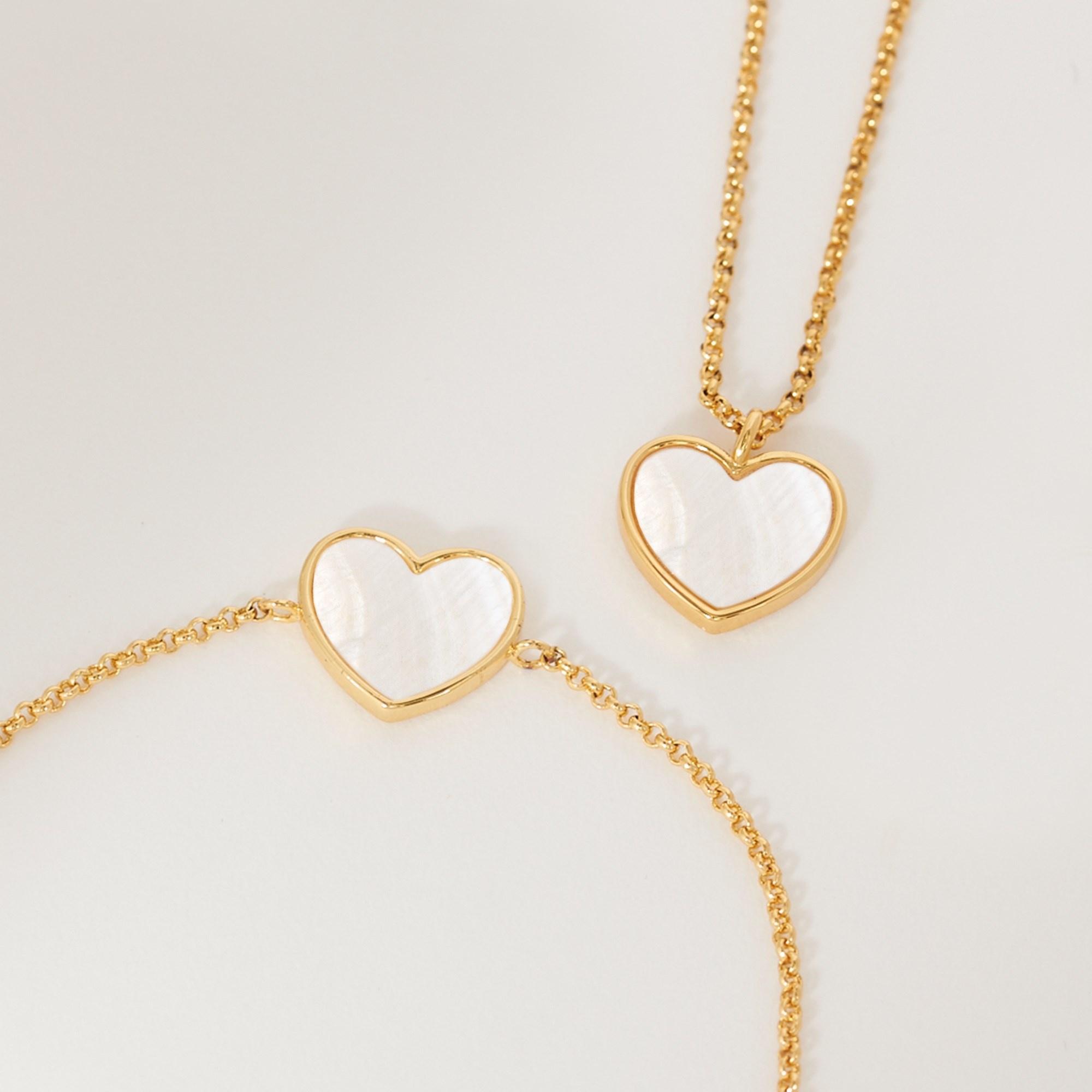 Joma Jewellery Shona Shell - Heart Ketting