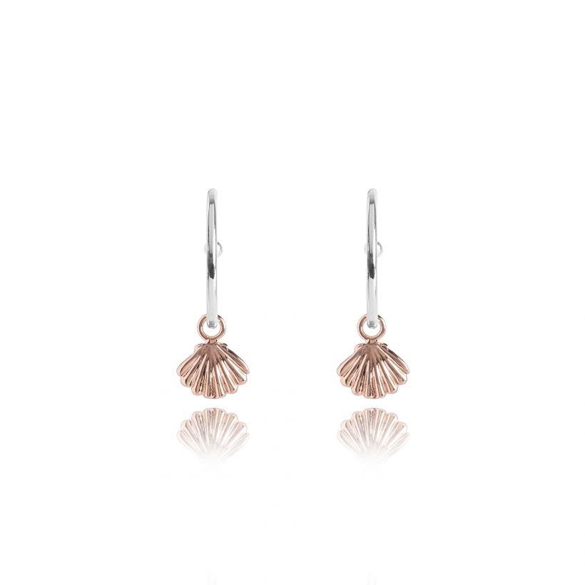 Joma Jewellery Shimmering Shell - Oorbellen Hoops